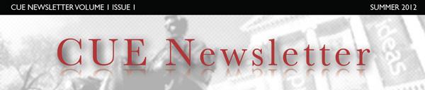 CUE newsletter banner