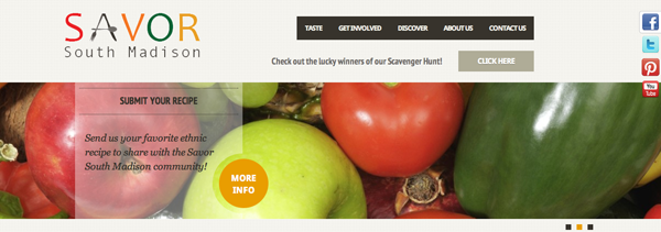 Web entry to Savor South Madison
